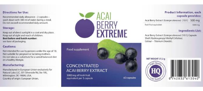 Wszystko, co musisz wiedzieć o Acai Berry Extreme